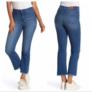 Madewell Cali Demi Boot Cut High Waist Jeans